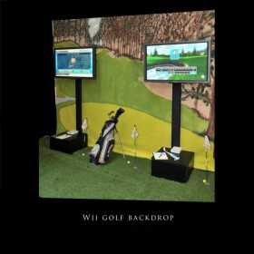 Wii Golf with Golf Course Backdrop
